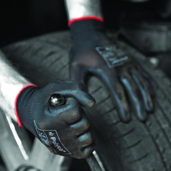 1 6 12 24 Pair Polyco Matrix P Grip Black PU Palm Work Gloves Builders All Sizes