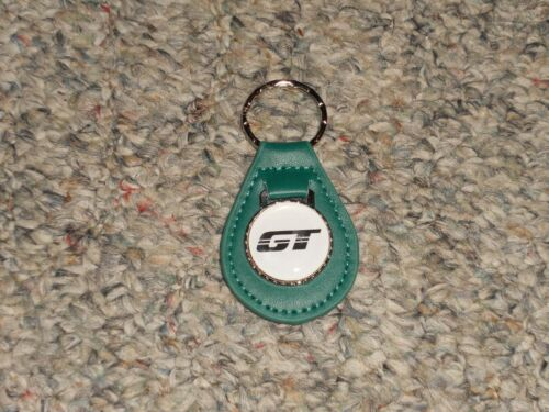 1983 1984 1985 1986 1987 1988 1989 FORD MUSTANG GT EMBLEM LEATHER KEYCHAIN TEAL
