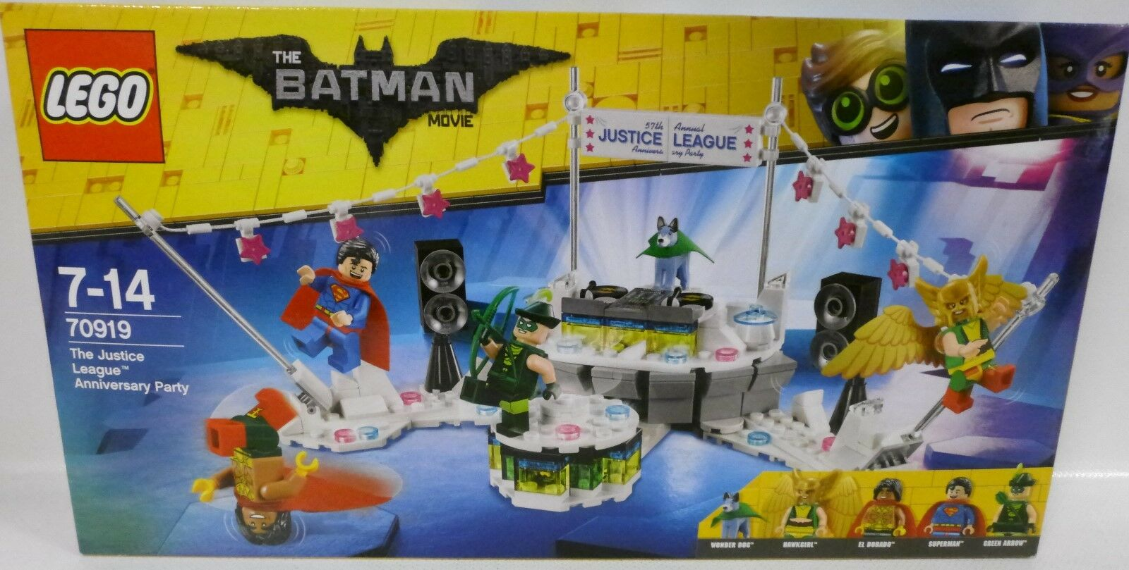 NEU LEGO® 70919 THE BATMAN MOVIE The Justice League Anniversary Party OVP
