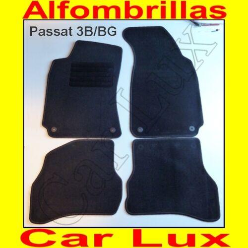 Alfombrillas Alfombras VW PASSAT 1996-2005 a medida talonera y anclaje redondo