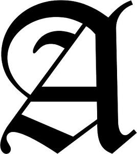 old english letter a letter a initial decal 3 75 quot choose color ebay 23839 | s l300
