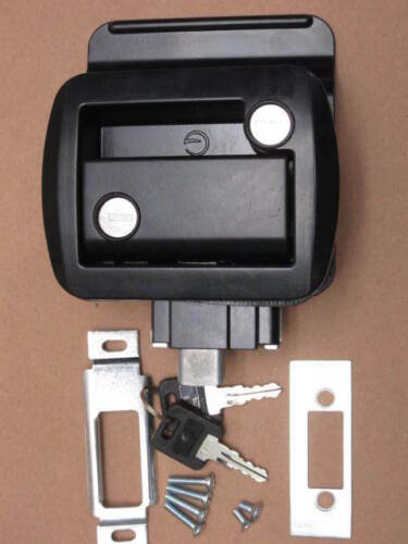 Black G RV Entry Door Lock Handle Knob w deadbolt Camper Travel Trailer Global