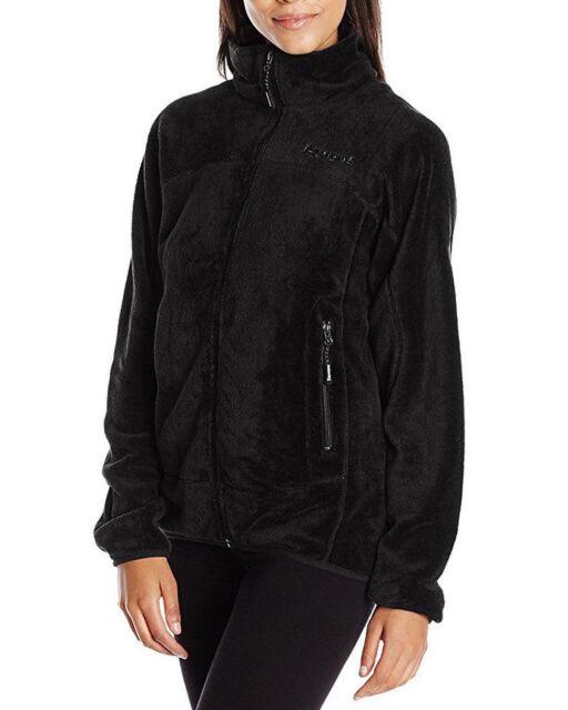 Black BEARPAW Women/'s Omaha Lightweight Zip Up Fleece Jacket 116W