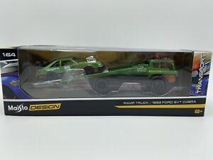 039-18-Maisto-Diseno-rampa-camion-con-1993-FORD-SVT-COBRA-escala-1-64-Envio-Gratuito