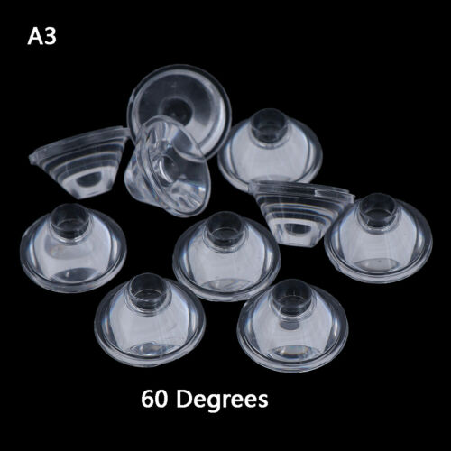 10pcs 20mm 10//30//60//90//120 degree optical glass led lens reflector collimator VQ