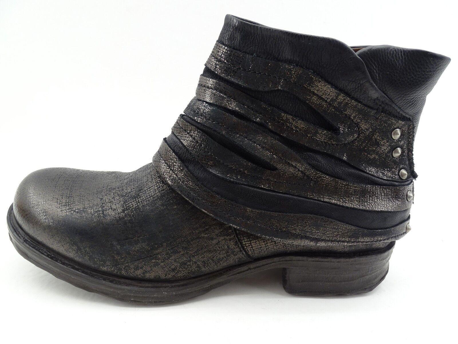A.S.98 (AirStep) Stiefel für Damen   Stiefel   Stiefelette Schwarz Leder   Gr 37
