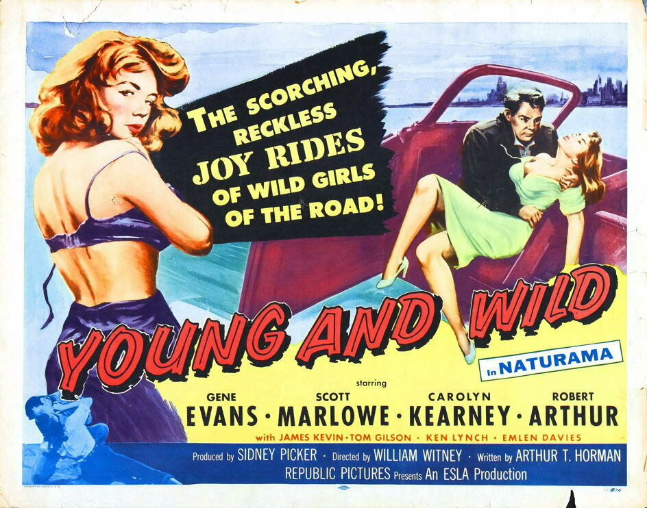 G6355 Young And Wild Scott Marlowe Movie 2 VHS Vintage Laminated Poster UK