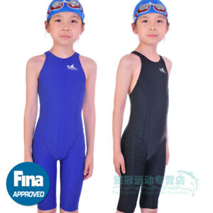 a1bd3e2b55 Image is loading YINGFA-Girls-Youth-Racing-Sharkskin-Swimsuit-FINA-Approved-