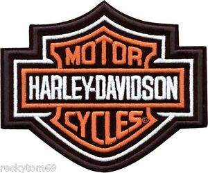 Harley Davidson Bar And Shield >> Details About Harley Davidson Bar And Shield 2x Basic Orange White And Black Emb302386