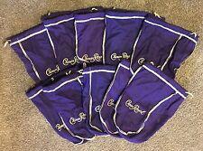 Lot Of 10 Crown Royal Bags Purple Felt Drawstring