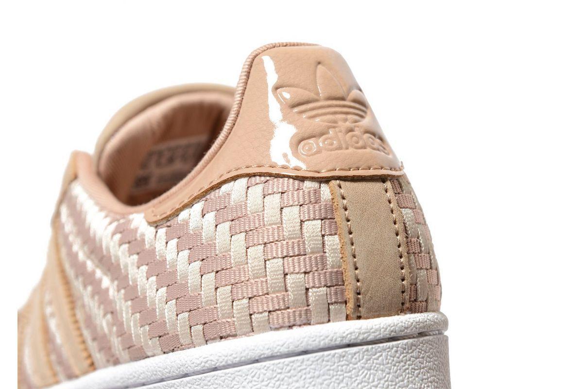Adidas Originals Superstar Woven Damens (Größes 3.5 UK 3.5 (Größes 4 4.5 5 6 8) Pearl / Weiß 31a0d3