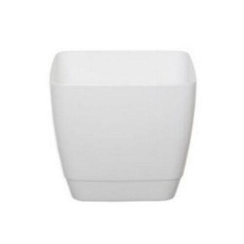 Couverture intérieure pot carré 14cm blanc décoratifs