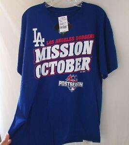 Majestic-LOS-ANGELES-BLUE-LA-Dodgers-MISSION-OCTOBER-MEN-039-S-SIZE-Large-New
