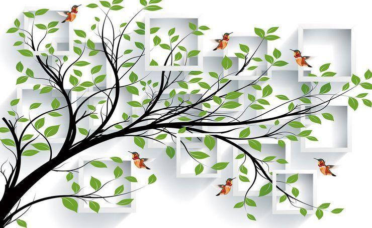 3D Tree Bird Art 289 Paper Wall Print Decal Wall Wall Murals AJ WALLPAPER GB