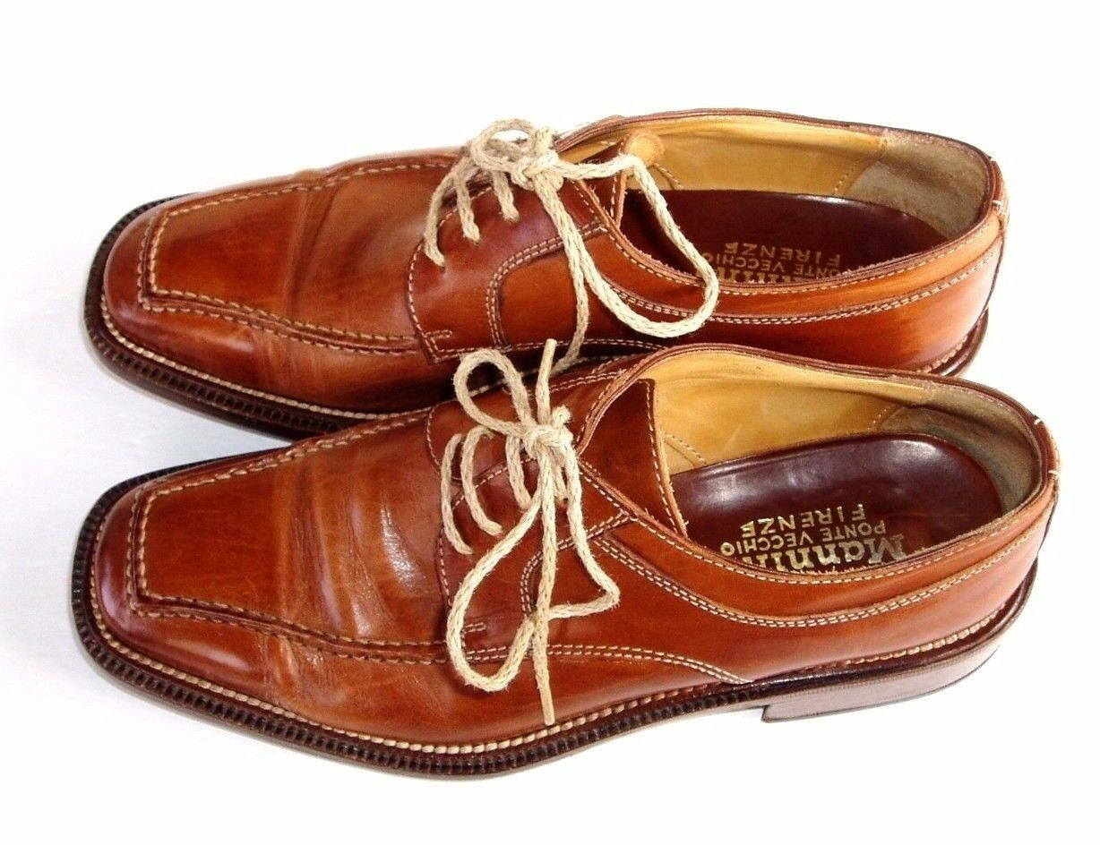 Mannina 7   7.5 Narrow Width Brown Hand Crafted  Dress Style Oxfords