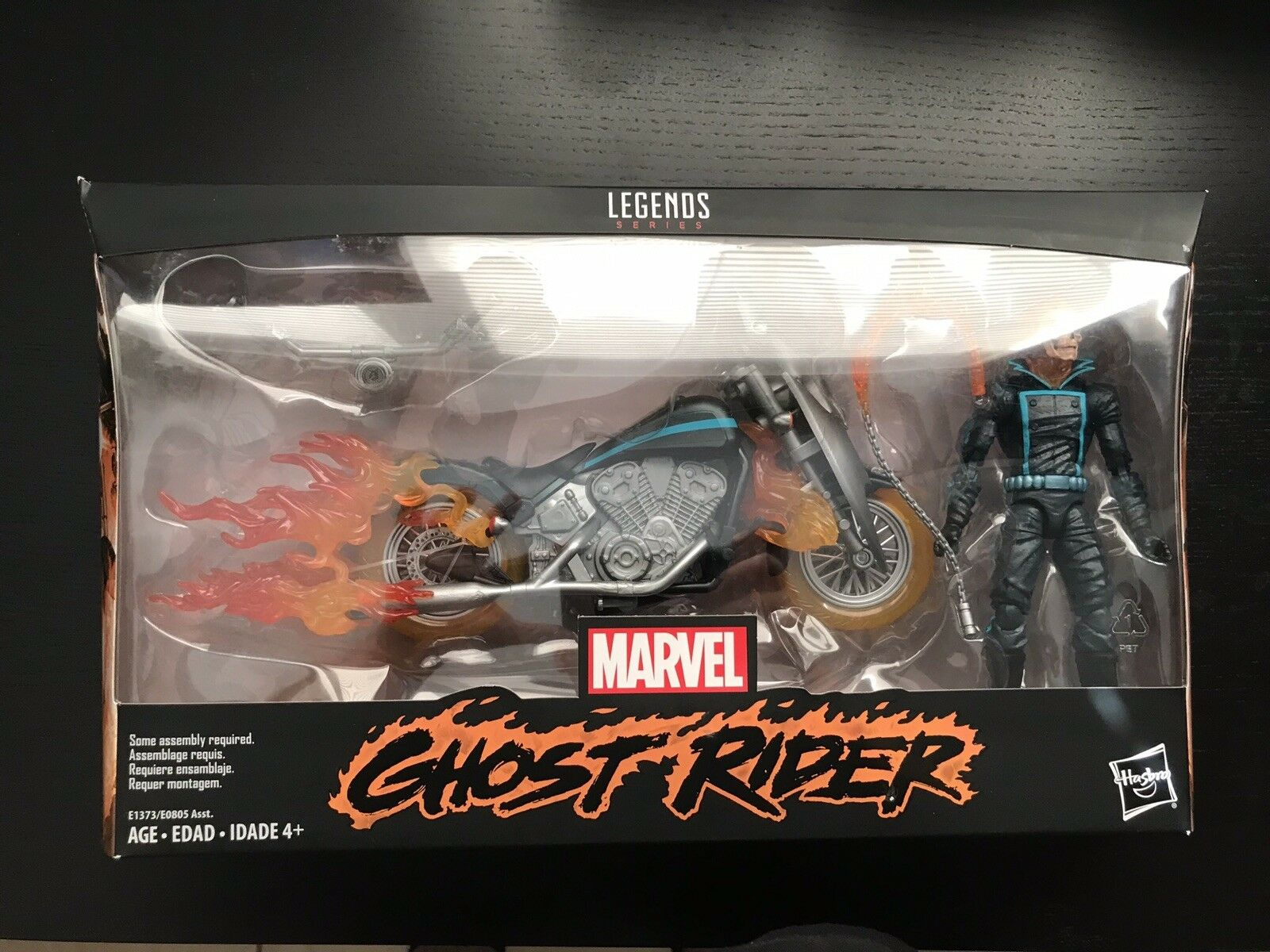 Marvel - legenden ghost rider & motorrad setzen