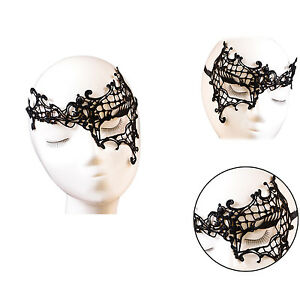Sexy-Women-039-s-Ladies-One-Eye-Mask-Cutout-Hollow-Lace-Christmas-Dance-Party-Mask