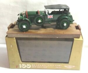 Brumm-1-43-escala-1928-105-130-HP-4-5-litros-Bentley-Racing-Green-R100-en-Caja