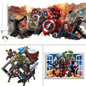 Super Heros The Avengers Wall Stickers Decor Removable
