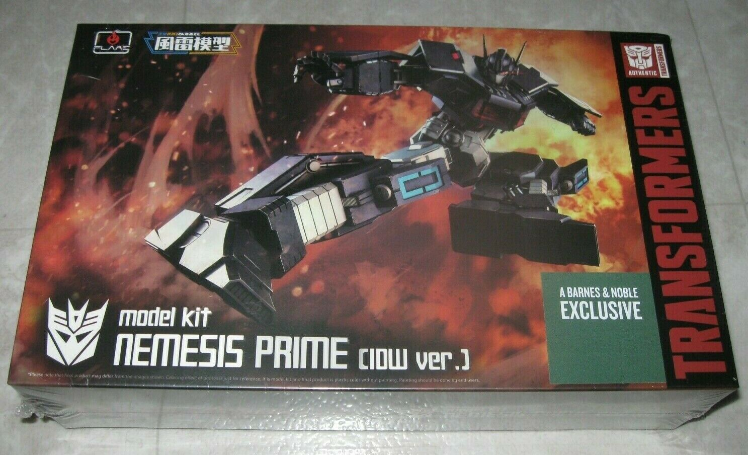 2019 Transformers Barnes and Noble - Nemesis Prime IDW modell Kit