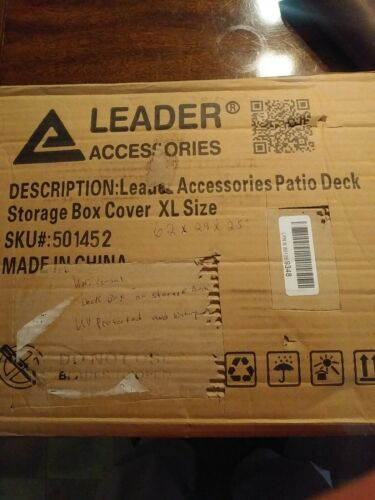 Details about  /Leader Accessories Waterproof Deck Box//Storage Ottoman Bench Cover For Keter////Su