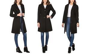 Haute-Edition-Womens-D-Maxi-Walker-Wool-Blend-Coat-S-Black