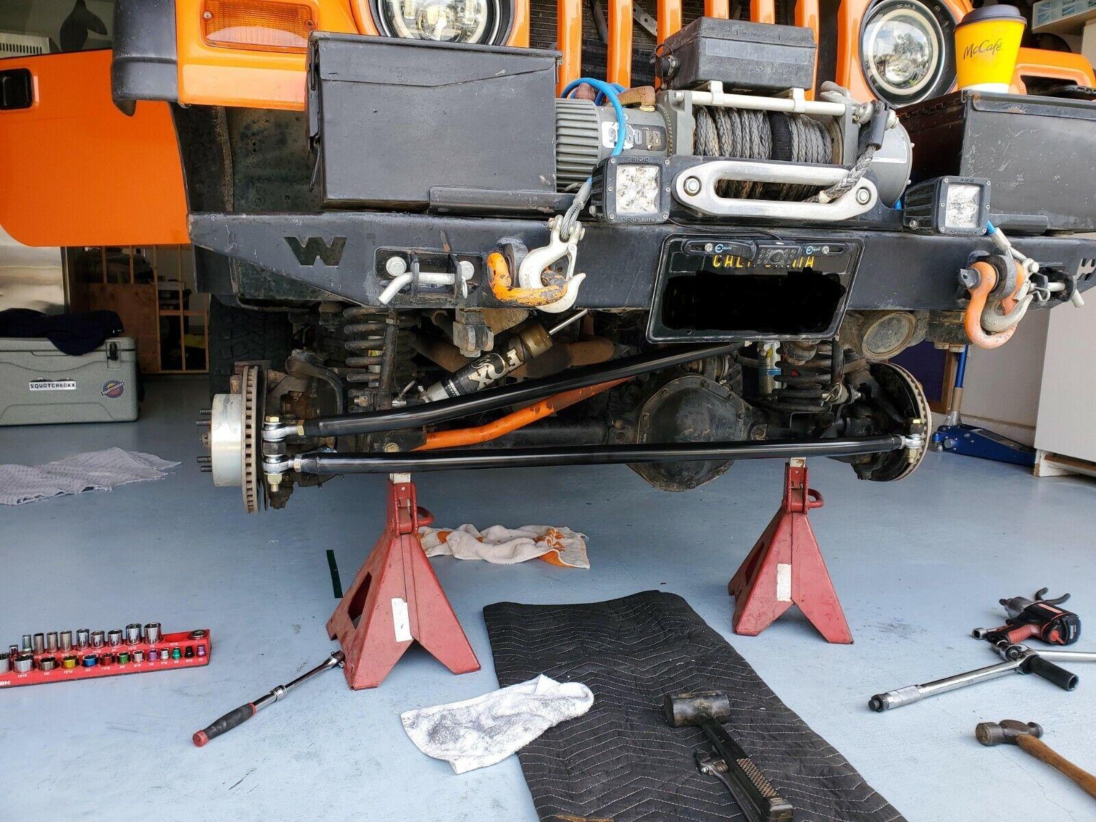 Black Stirrup Step For Jeep Wrangler TJ 1997-06 Steinjager J0045875