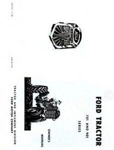 ford 701  u0026 901 series tractor owner operator manual