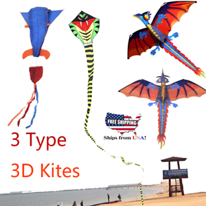 Summer-Huge-3D-Cartoon-Kite-Single-Line-With-Tail-Family-Child-Outdoor-Sport-Toy