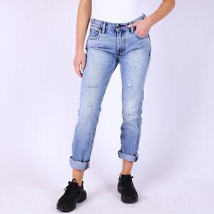 Levi-039-s-Quality-Crafted-505C-Straight-Leg-hellblau-Damen-Jeans-DE-38-W26-L34