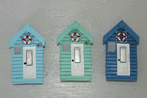 Beach Hut Ceramic Nautical Fridge Magnet Seaside Coastal Design Strong Hold