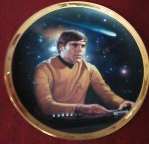 Hamilton Collection 25th Anniversary Star Trek Collector Plate Chekov TOS W/ COA