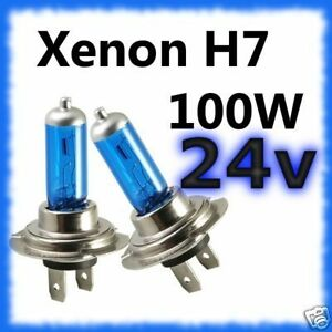 Ampoules Xénon H7 100w 24v Volvo Aec Bedford DAF Fiat Ford