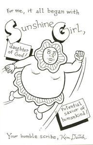 Kim-Deitch-5-034-x-7-3-4-034-ORIGINAL-ART-Sunshine-Girl-SIGNED-SKETCH-AUTOGRAPHED