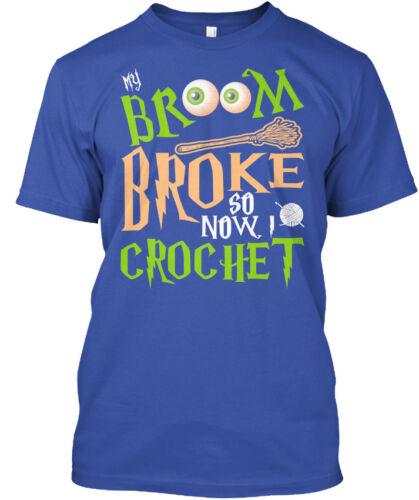 brisé Crochet-Balai cassé donc maintenant je chrochet Standard Unisexe T-Shirt Mon balai