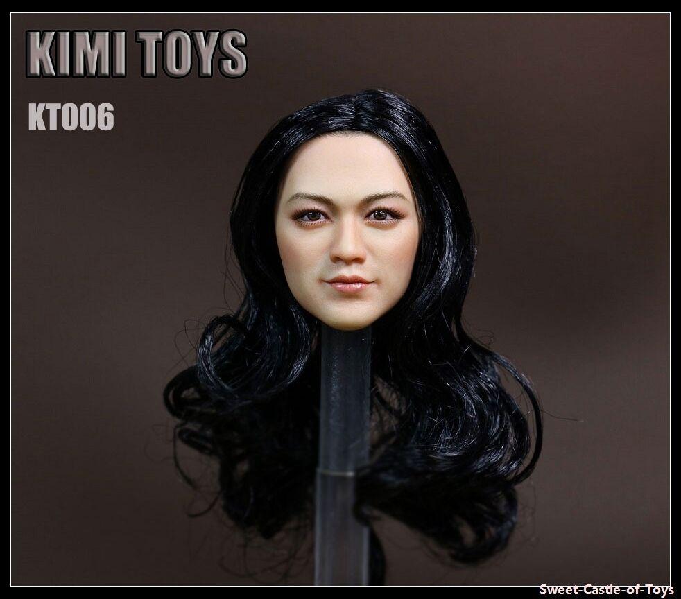 1 6 Kimi Toys KT006 Asiatique Lady Féminin Cheveux Longs Tête Pour Hot Toys