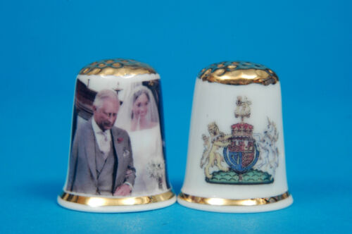 Prince Harry /& Meghan Royal Wedding Story Set China Fingerhüte Karte B//118