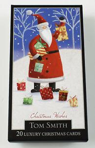 image is loading christmas cards santa snowman 2 designs 20 pack - Santa Snowman 2