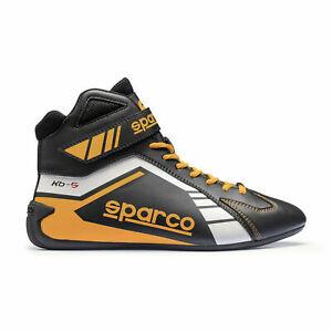Sparco-Scorpion-KB-5-Kart-Schuhe-Groesse-36-Schwarz-Gelb-Sonderpreis