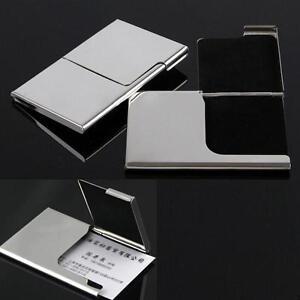 Visitenkartenetui-Edelstahl-Visitenkarten-Kreditkartenetui-NEU-Brieftasche-1x