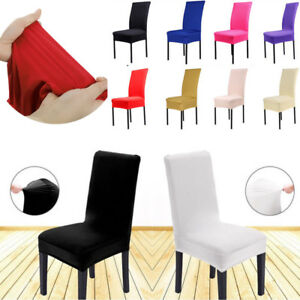 1x-Solid-Spandex-Chair-Cover-MultiColor-Wedding-Party-Banquet-Dining-Room-Decor