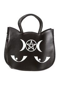3cdb58713cc67 Das Bild wird geladen Banned-Tasche-Henkeltasche -Wishbone-Bag-Occult-Cat-Mieze-