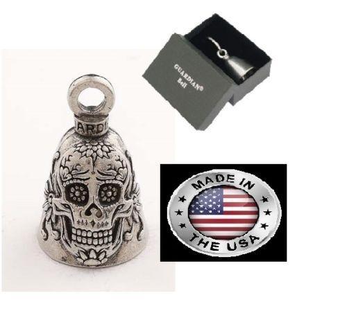 Sugar Skull Guardian® Bell WITH GIFT BOX Motorcycle Spirit Gremlin Rider Harley