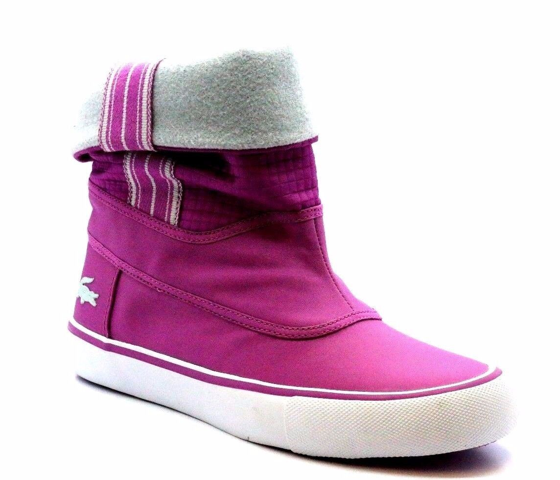 LACOSTE 728SCW21168B7 LYCA SN SCW Wmn's (M) Light Purple Synthetic Fabric Boots