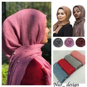 Cotton-Blend-Viscose-Maxi-with-Pearl-Diamond-Crinkle-Hijab-Scarf-Soft-180x100cm
