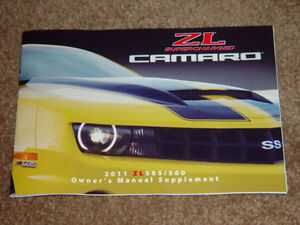 2011 camaro ss zl 585 560 supercharged factory original slp owners rh ebay com 2011 camaro ss owners manual pdf 2010 camaro owners manual pdf