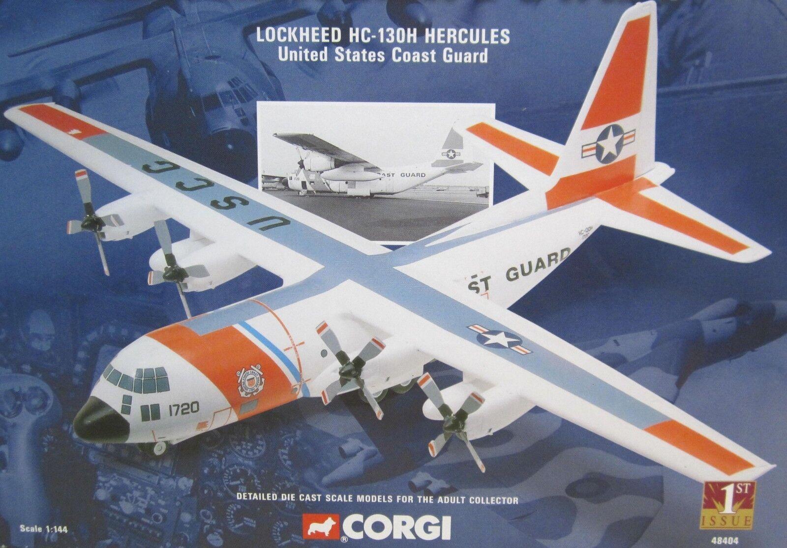 Lockheed hc-130h Hercules United States Coast Guard 1ª Edición Die-cast 1 144 Nuevo