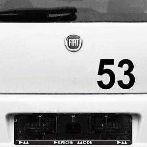 2 Piece Tattoo Sticker Film 12cm Black Start Number Racing