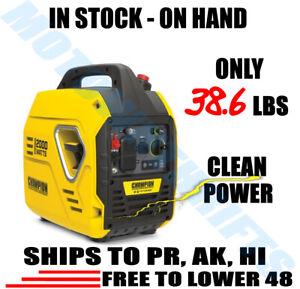 ⚡ Champion Power Equipment 2000 Watt Inverter Generator Portable SUPER QUIET 💡
