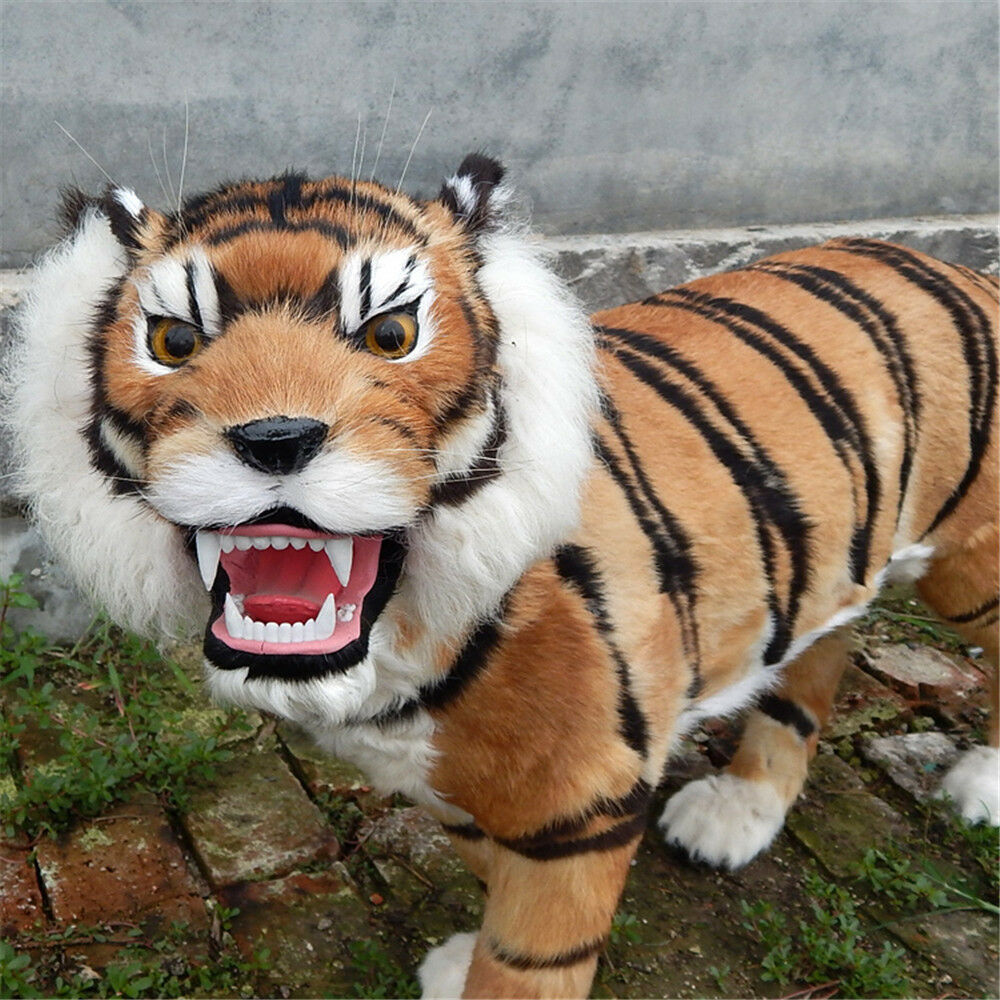 2019 Huge Simulation Tiger Toy Model Animal Plastic Fur Toy Cushion Gift 39''